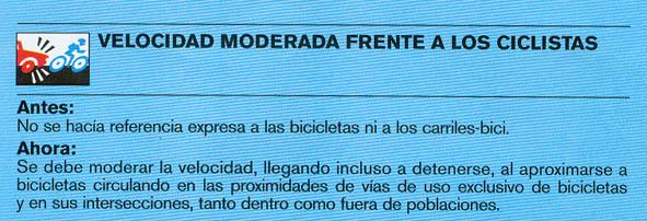 Nuevas normas de tráfico relacionadas con el ciclismo. Codigo_01
