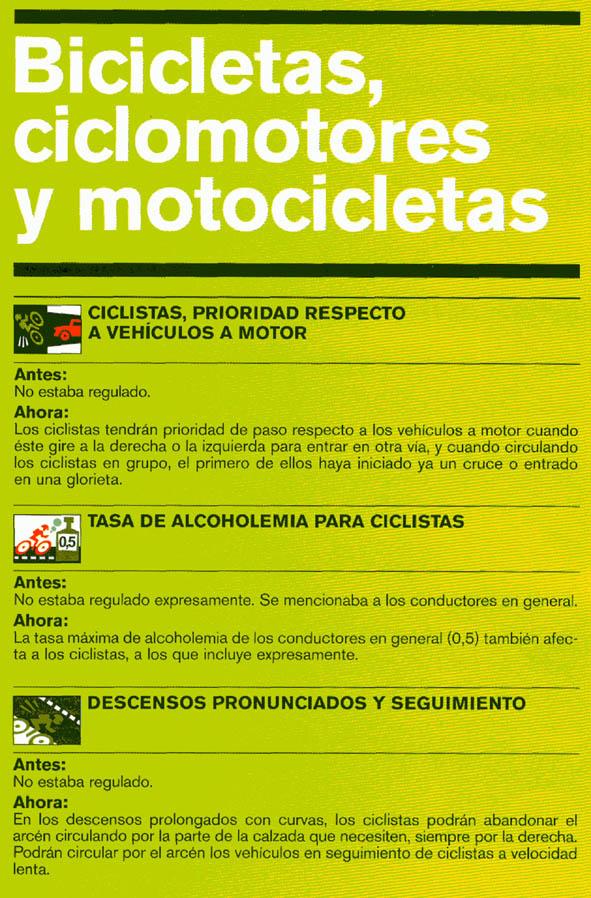 Nuevas normas de tráfico relacionadas con el ciclismo. Codigo_02