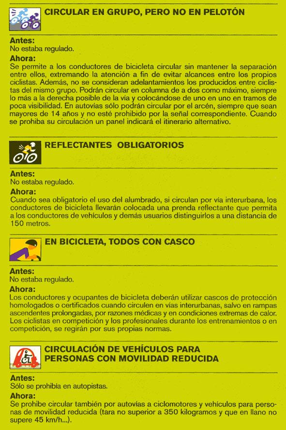 Nuevas normas de tráfico relacionadas con el ciclismo. Codigo_03