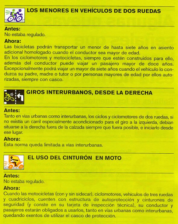 Nuevas normas de tráfico relacionadas con el ciclismo. Codigo_04